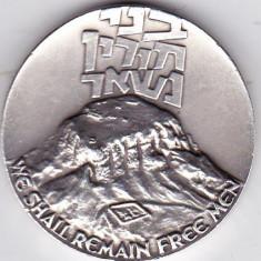 Israel medalie 1965 argint 30 gr puritate 935/1000 cetatea MASADA vezi descriere