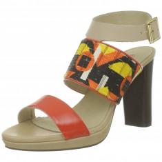 GDY67 Sandale de vara cu barete late din piele - Sandale dama