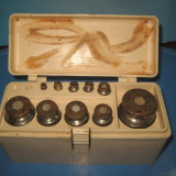 Set deosebit greutati marca ELTIM din metal in cutie originala. - Cantar/Balanta