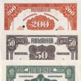 10, 50, 200, 2000 Lei 1920 Emisiuni Ferdinand Reproduceri, An: 2015