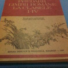 Manual scolar, Romana - METODICA PREDARII LIMBII ROMANE LA CLASELE I-IV MANUAL PENTRU CLASELE XI-XII