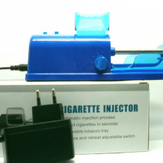 Aparat rulat tigari - Aparat electric de facut tigari, INJECTAT TUTUN IN TUBURI