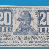 Asignata Timisoara 20 fileri 1919 UNC
