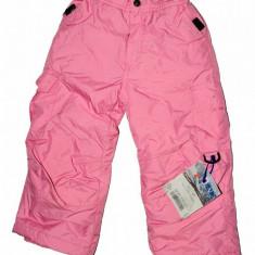Pantaloni schi roz Rawik, matlasati, 4 ani