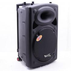 Echipament karaoke - BOXA ACTIVA, MIXER, STATIE INCLUSA, MP3 PLAYER, 300 WATT P.M.P.O, 2 MICROFOANE WIR.
