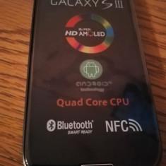 Samsung Galaxy S3 i9300 NEGRU/ALB / NOU / BONUS FOLIE STICLA - Telefon mobil Samsung Galaxy S3, 16GB, Neblocat, Quad core, 1 GB