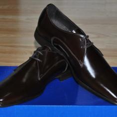 Charles Tyrwhitt UK, Pantofi Eleganti Barbati Piele Naturala Maro Marime 41, 5/42 - Pantofi barbati