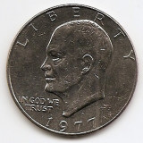 "Statele Unite (SUA) 1 Dolar 1977 - ""Eisenhower Dollar"", 38.1 mm, KM-203 (3), America de Nord, An: 1977"