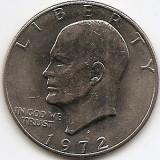 "Statele Unite (SUA) 1 Dolar 1972 - ""Eisenhower Dollar"", 38.1 mm, KM-203 (1), America de Nord, An: 1972"