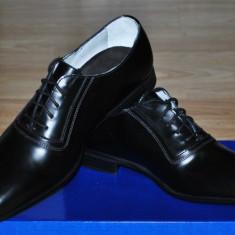 Charles Tyrwhitt UK Pantofi Eleganti Barbati NEGRU Mat, Marime 39, 5/40 - Pantofi barbati, Piele naturala