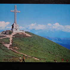 SEPT15-Vedere/Carte postala-Valea Prahovei-Crucea de pe Caraiman-necirculata - Carte Postala Dobrogea dupa 1918, Printata