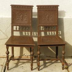 Mobilier - 2 scaune vechi model altdeutsch