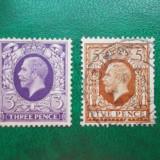 Anglia 1912 George V 3P, 5P stampilate 5, 5 Euro