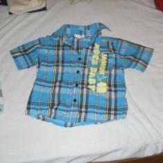 Camasa bleu cadrilata din bumbac 100% de la Cherokee pentru baieti 18- 24 luni