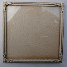 Frumoasa rama din alama patinata - perioada anilor 1940 - Rama Tablou, Decupaj: Dreptunghiular, Material: Aluminiu