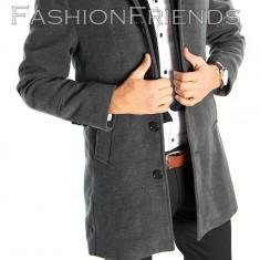 Palton tip ZARA gri - palton barbati - palton slim fit - STOC LIMITAT 5411