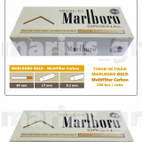 1.000 tuburi Marlboro GOLD - Multiflitru Carbon / pentru umplut tigari cu tutun