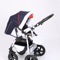 Carucior copii 2 in 1 - Carucior 2 in 1 Q9 Baby Merc Color 24 (Rosu cu Gri Denim) Baby-Merc
