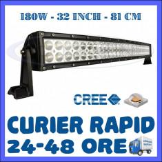 PROIECTOR LED CREE CURBAT, COMBO BEAM, 81 CM 180W, 12V 24V, OFFROAD SUV UTILAJE - Proiectoare tuning ZDM, Universal