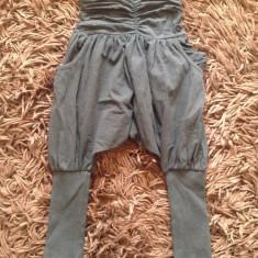 Pantaloni fetite, tur lasat, 8-10 ani, tip salvari. COMANDA MINIMA 30 LEI, Culoare: Negru, Fete