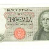 Bancnota Straine, Europa, An: 1964 - 5000 lire 1964 Italia 5000 lire Italia 1964