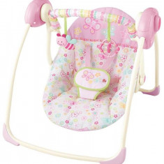 Bright Starts-60199 Leagan Portabil Flutter Dot - Set mobila copii