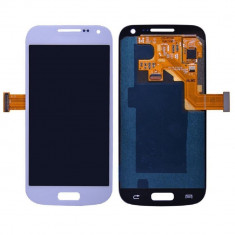 Display LCD - Ansamblu LCD Display Laptop Touchscreen touch screen Samsung Galaxy S4 mini I9190 I9192 I9195 I9195i White Alb ORIGINAL