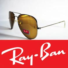 Ochelari de soare Ray Ban, Unisex, Maro, Pilot, Metal - Ochelari Ray Ban