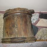 Vintage Transilvania-obiect decor-putina, ghiob, vas de lemn