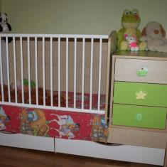 Patut transformer cu sistem de leganare - Patut lemn pentru bebelusi Baby Design, 160X70cm