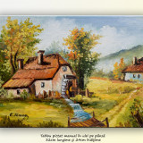 Tablou, An: 2015, Peisaje, Ulei, Altul - La moara (3) - pictura peisaj rural, ulei pe panza 32x24cm