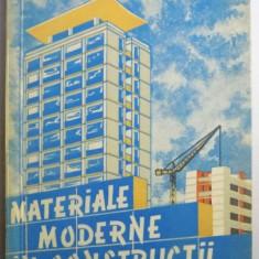 Carti Mecanica - MATERIALE MODERNE IN CONSTRUCTII de AL. NEGOITA, 1960