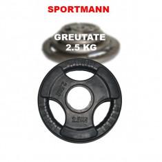 Gantere/Haltere - Greutate cauciucata 2.5kg/51mm Sportmann