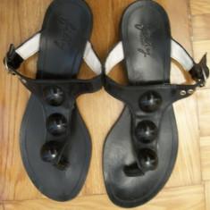 Papuci din piele naturala - Papuci dama, Marime: 36.5, Culoare: Negru