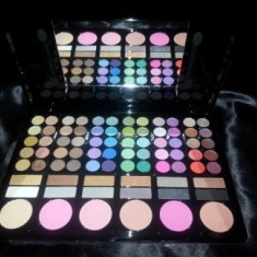 Trusa de machiaj make up fard farduri profesionala 78 culori 6 blush pudra ruj - Trusa make up