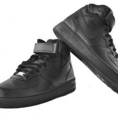 Ghete barbati Nike, Piele sintetica - Ghete Nike Air Force negru livrare gratuita prin posta