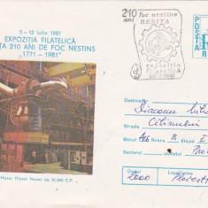 Bnk fil Intreg postal Expofil Resita 210 ani foc nestins 1981
