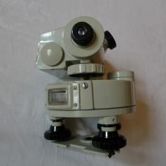 Microscop - TEODOLIT - NIVELA - INSTRUMENT TOPOGRAFIC TH - 10L - CCCP - URSS - ANUL 1982
