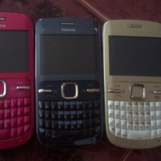 Telefon mobil Nokia C3, Alb, Neblocat - NOKIA C3-00 / AURII / ALBASTRE / ROZ