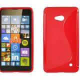 Husa Microsoft Lumia 640 Nokia TPU S-LINE Red - Husa Telefon Nokia, Rosu, Gel TPU, Fara snur, Carcasa