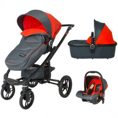 Sistem Modular 3in1 Arrow Rosu - Carucior copii 2 in 1 DHS Baby