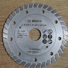 Bosch Disc diamantat, 115 x 22.23 x 2.0 mm