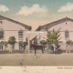 TECHIR-GHIOL HOTEL CLEMENT POPESCU HOTEL MINISTERUL MUNCEI CIRCULATA AUG.''927 - Carte Postala Dobrogea dupa 1918, Printata