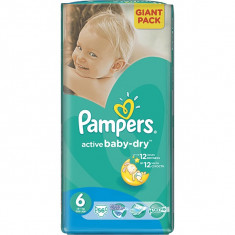 Scutece Pampers Extra Large nr. 6 pentru copii de 15+ kg 56 buc (1.16 lei / buc) - Scutece unica folosinta copii