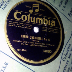 Disc vinil patefon/ gramofon Danza Ungherese No. 6 / I Vesprei Siciliani - Muzica Clasica Columbia