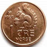 NORVEGIA, 1 ORE 1969, FRUMOASA !!!, Europa, An: 1969, Cupru (arama)