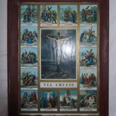 SUPERBA ICOANA VECHE LITOGRAFIATA DE LA INCEPUTUL ANILOR 1900! - Icoana litografiate