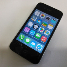 iPhone 4s Apple 64GB Neverlock - sticla crapata - touchscreen functional, Negru, Neblocat