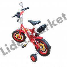 Bicicleta copii, 8 inch, 12 inch, Numar viteze: 1 - Bicicleta pentru copii complet accesorizata rosie