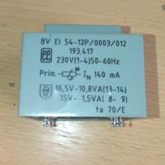 Transformator 230V 16, 5V 10, 8VA 35V 1, 5VA